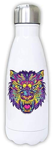 Iprints Colorful Tribal Jungle Tiger Vector Thermal Water Bottle