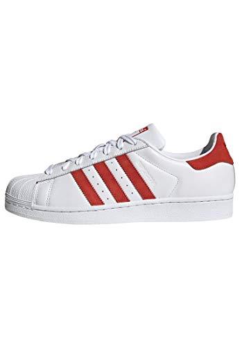 Adidas Superstar - Zapatillas para Hombre, Blanco (Cloud White/Active Red/Cloud White), 40 EU