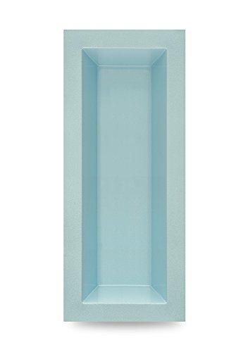 M+W Gartenflair GFK Teichbecken rechteckig | Teichschale | Gartenteich | 700 Liter | 2400 x 1000 x 520 mm (Schwarz) (Blau)