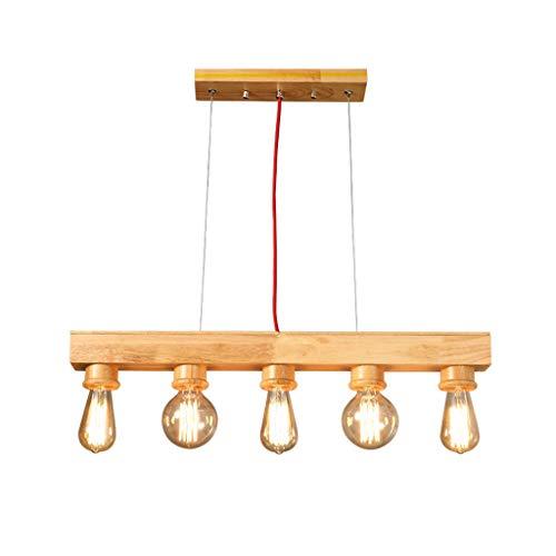 MJK Pendelleuchten, Kronleuchter aus Holz, Brunnen Restaurant Bar Kreative Persönlichkeit Wohnzimmer Licht,EIN