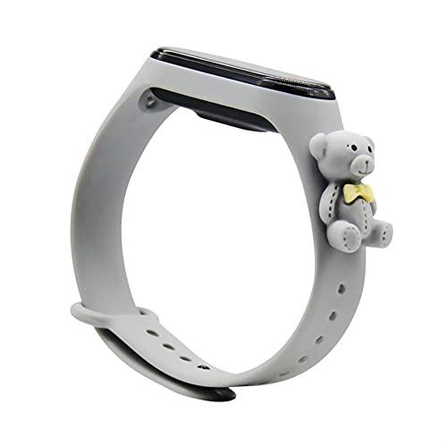 Correa de muñeca de dibujos animados de silicona suave para MI BAND 4 3 Strap Watch pulsera deportiva MI Banda 5 6 Correa MIBAND 4 Accesorios (Color : D1, Size : For Miband 3 4)