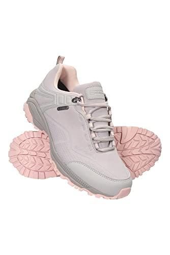 Mountain Warehouse Collie wasserdichte Damen-Schuhe - leichte, atmungsaktive Wanderschuhe, Laufschuhe und Sportschuhe oder als Überschuhe fürs Fahrrad bei Regen Beige 40 EU