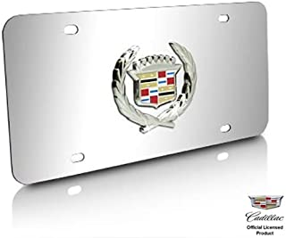 License Frame Inc Chrome Tri Bar Logo Notched Brass License Plate Frame for Ford Mustang