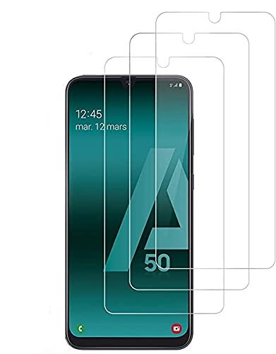CAPTOR [3 Pezzi] Pellicola Vetro Temperato per Samsung Galaxy A50 / M31 / M21 / A30S / A30 / A50S, Protettiva Protezione Schermo Durezza 9H Ultra Resistente (3)