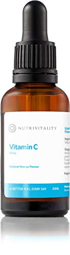 Nutrivitality Liquid Vitamin C - Highest Absorption, 80mg, 30ml, 37 doses