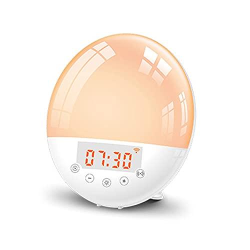 Tuya - Despertador inteligente con WiFi, LED, 7 colores, ajustable, para casa, dormitorio, salón, luz multifunción, compatible con Alexa Google Home