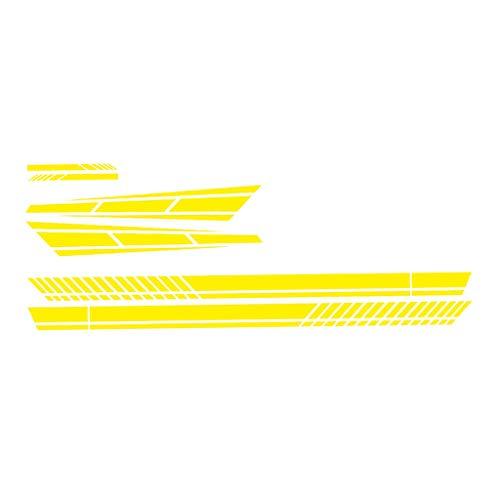 MagiDeal 6 Piezas de Tiras Impermeables para Coche, Cuerpo Lateral, Capó, Espejo, Pegatinas, Calcomanías, Adhesivo - Amarillo