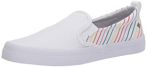 Sperry Crest Twin Gore Pride Zapatillas de deporte para mujer, Blanco (Blanco), 42 EU