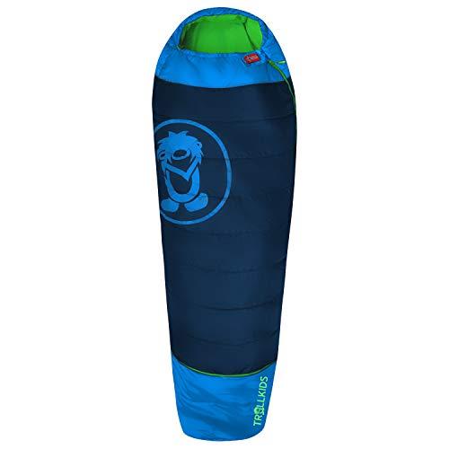 Trollkids Schlafsack Kinderschlafsack Fjell Dreamer, Marineblau/Grün Einheitsgröße erweiterbar