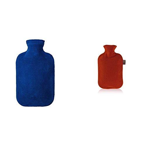 Fashy 6530 54 2007 Wärmflasche 2 L mit blauem Vliesbezug