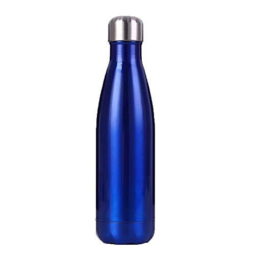 zhouhongchao Bouteille de Sport en Acier Inoxydable 304 Coke Bouteille Isolation Tasse Froide Tasse à Eau Portable extérieure, Ocean Blue 500ML