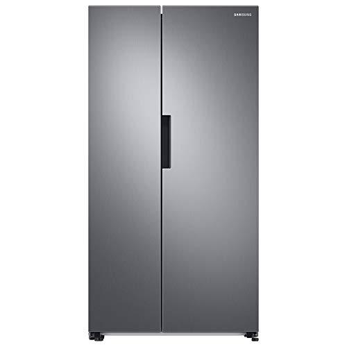 Samsung RS6GA8531S9/EG Side-by-Side-Kühlschrank mit SpaceMax-Technologie, 415 Liter Kühlschrankvolumen, 237 Liter Gefriervolumen, 359 kWh/Jahr, Edelstahl Look [Energieeffizienzklasse A++]