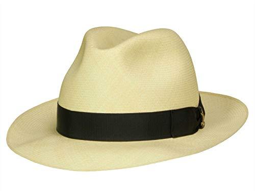 Borsalino Montecristi Superfein - Cappello Panama di alta qualità nero naturale (712-3). X-Large