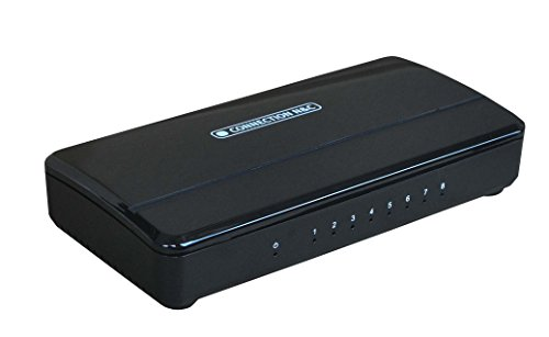 Connection N&C CNC-SG8 Conmutador de red no administrado Gigabit Ethernet (10/100/1000) Negro switch - Switch de red (No administrado, Gigabit Ethernet (10/100/1000), Bidireccional completo (Full duplex))