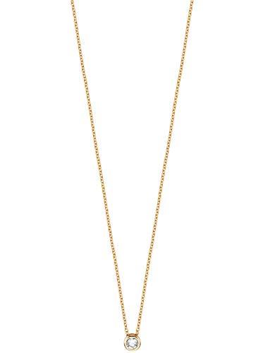 Esprit ESNL00791442 Damen Collier Spark Silber Gold weiß Zirkonia 45 cm