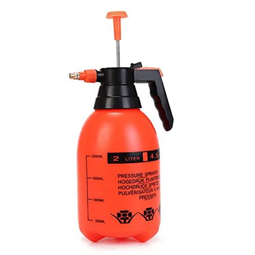 Hangenb Pulverizador De Presión De Una Sola Mano, Botella De Spray Portátil para Jardín, Regadera de 2 L, rociador de jardín, para Lavado y esterilización del hogar, riego de jardín