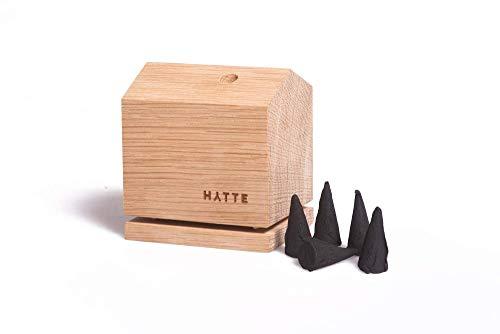 HYTTE/Räucherhaus aus Holz (Eiche) inkl. 5 Räucherkerzen/Sommerduft