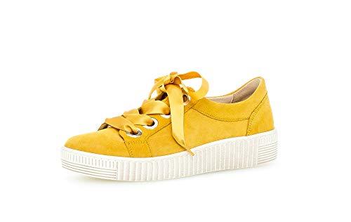 Gabor Damen Sneaker, Frauen Low-Top Sneaker,Best Fitting,Optifit- Wechselfußbett, Women Woman Freizeit leger Halbschuh schnürer,Sun,38.5 EU / 5.5 UK