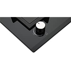 """K&H 2 Burner 12"""" Built-in NATURAL Gas Glass Cast Iron Cooktop 2-GCW"""