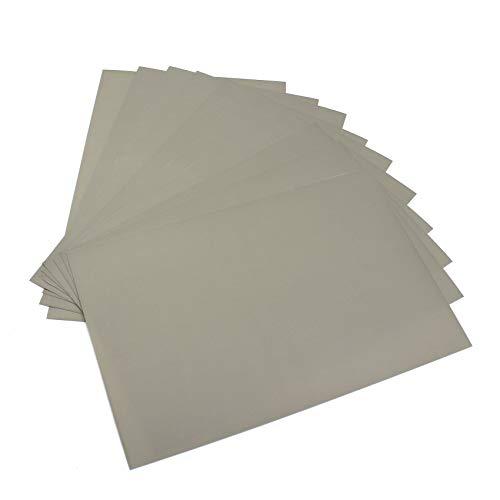 Finest Folia Oramask 810 Stencil Film gris mate translúcido, lámina para enmascarar para trabajos de pintura y aerografía (10 unidades)