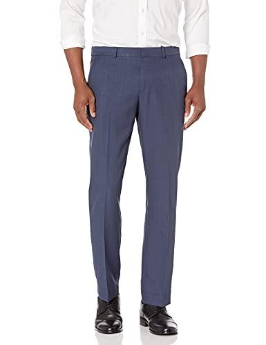 Perry Ellis Men's Portfolio Modern Fit Performance Pant, mood indigo, 38x32