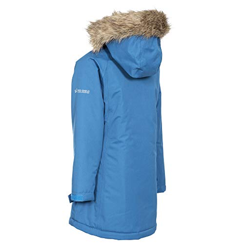 Trespass Fame Warm Padded Waterproof Winter Jacket with Removable Hood for KidsGirls Cosmic Blue 7 8 Years