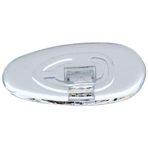 2 Paar (4 Stück) Nasenpads/Brillenpads - Silikon Klicksystem, verschie. Größen (Tropfen 19mm)