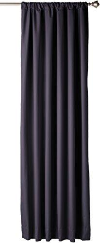 AmazonBasics Room Blackout Window Panel Curtains - Pack of 2, 52 x 84 Inch, Black