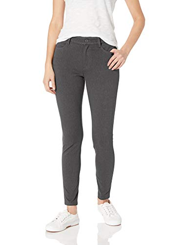 Amazon Essentials Women's Mid-Rise Skinny Stretch Knit Jegging, Charcoal Heather, 12