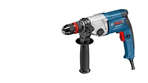 Bosch Professional 06011B2002 GBM 13-2 RE-Taladro sin percusión (750 W, 2 velocidades, Ø MAX perforación Acero 13 mm, portabrocas Alta precisión, en Caja), 230 V, Negro, Azul