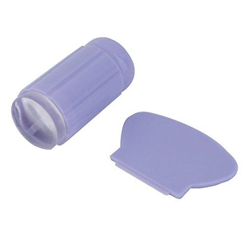 Jelly Tampon et Grattoir (Spatule) Big Violet/Violet pour stamping – Cute Nails