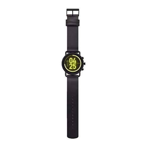 Skagen Falster 3 - Gen 5 Smartwatch HR Touch Screen con cinturino in pelle nera per uomo SKT5206