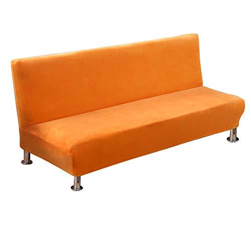 PETCUTE Funda de sofá elástica sin reposabrazos Funda de sofá Cama Fundas de Clic clac Naranja