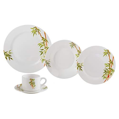 Aparelho de Jantar 20 Peças de Porcelana Tropicalis Lyor Branco Único