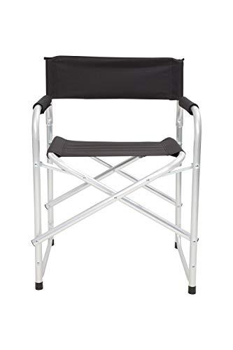 Mountain Warehouse Lightweight Directors Chair - Fold Up, Lightweight Armchair Black