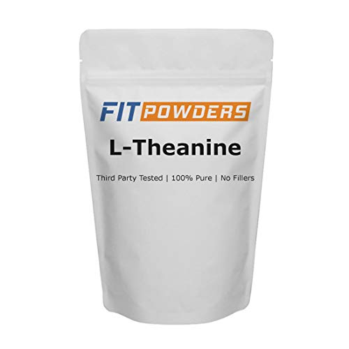 L-Theanine Powder 100g (500 Day Supply) 100% Pure, Non-GMO, Mood and Cognitive Supplement, Stress Relief and Relaxation - Fit Powders