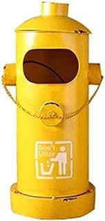 IVNZEI Cubo de Basura for el Reciclaje y el Reciclaje de café, Retro Decorativos Botes de Basura del Arte del Hierro Papelera for hidrantes Creativo Bar Restaurante Papelera prácticos (Color : B)