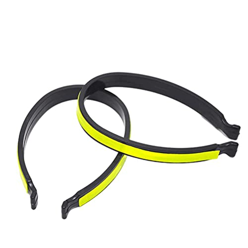 Hspemo 1 par de pinzas reflectantes para pantalones, visibilidad al correr, ciclismo, reflector ideal para niños y actividades en la oscuridad