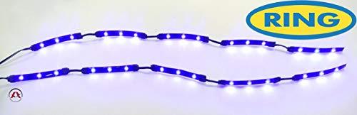 2 Bandes 15 LEDs Flexibles - 37cm - Effet halo - Bleu