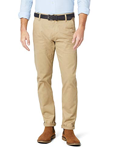 Dockers Herren Alpha ORIGINAL Slim -Stretch Twill Hose, Braun (New British Khaki 0432), W33/L32