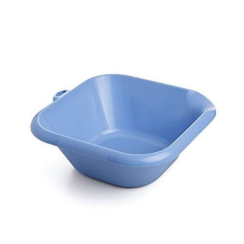 Tatay Barreño Cuadrado, 6L de Capacidad, Libre de BPA, con Orificio Colgador, Azul. Medidas 34 x 13 x 35 cm