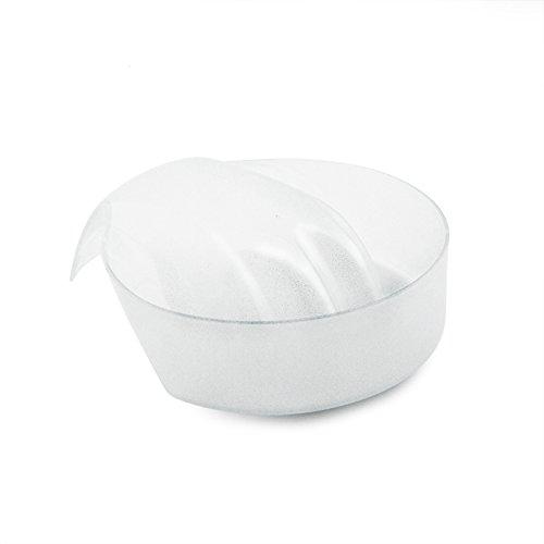 KADS 1pc White Nail Art Hand Wash Remover Soak Bowl DIY Salon Glitter Nail Spa Bath Treatment Hand Resurrection Care Bowl