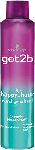 Schwarzkopf Got2b Happy Hour Durchgehalten Haarspray, 3er Pack (3 x 300 ml)
