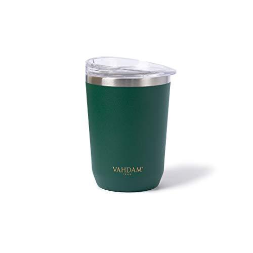 VAHDAM Ardour Taza termica de Acero Inoxidable (350ml) | Vaso termo cafe para llevar | Termo Reutilizable | Apto para Bebidas Frías/Calientes | ECOLÓGICA Y SOSTENIBLE | vasos termicos