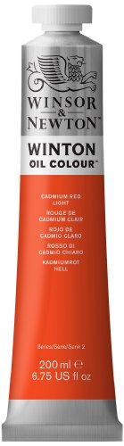 Winsor & Newton Winton Oil Color Paint, 200-ml Tube, Cadmium Red Light