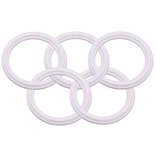 DERNORD PTFE (Teflon) Tri-Clamp Gasket O-ring - 2.5 Inch Style Fits OD 77.5MM Sanitary Pipe Weld Ferrule (Pack of 5)