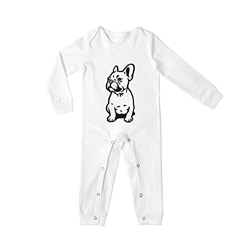 Cute French Bulldog Long Sleeves Baby Onesies For Boys Girls Cute Infant Newborn Bodysuit Outfits