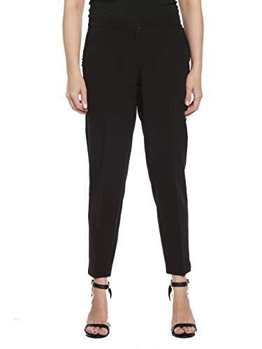 Zac & Rachel Women's Bond 18 Slim Leg Ankle Pants, Black, 10