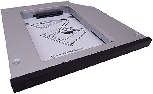 OptiBayHD Notebook Einbaukit für zweite Festplatte oder SSD in IBM / LENOVO ThinkPad Ultrabay 12,7mm T420, T430, T510, T520, T530 anstelle des optischen CD, DVD, BD Laufwerks.