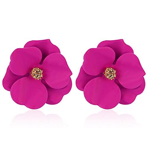 Arete Pendientes Pendientes Femeninos Con 4 Colores Para Mujer Nueva Declaración DeModa CoreanaDe Earring-Rose